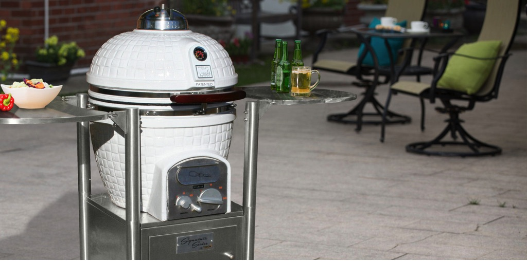 kamado delivers the wow factor in style and will make your patio the focal point of your the rendezvous takes the grilling experience to - Kamado Grills