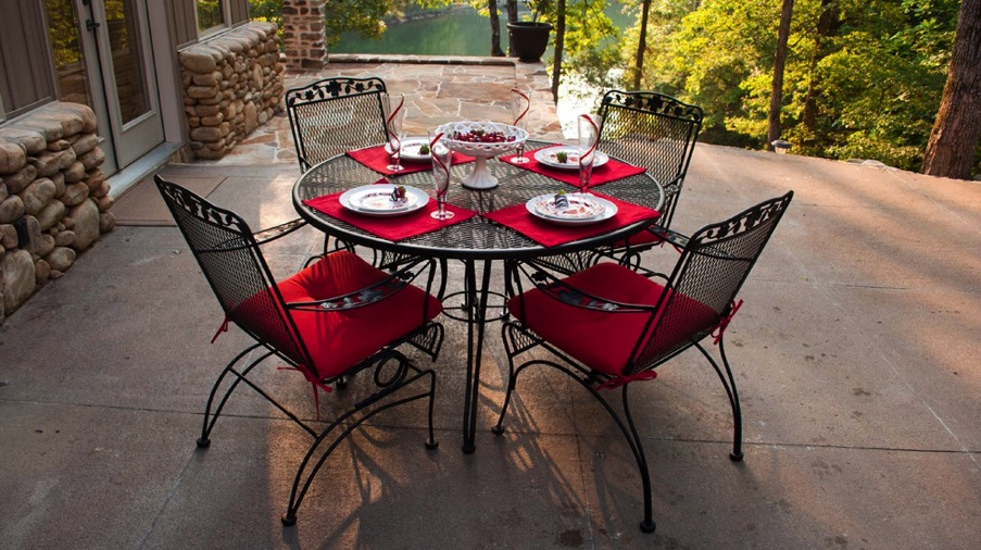 Medowcraft Furniture, Outdoor Wrought Iron Chair Pads